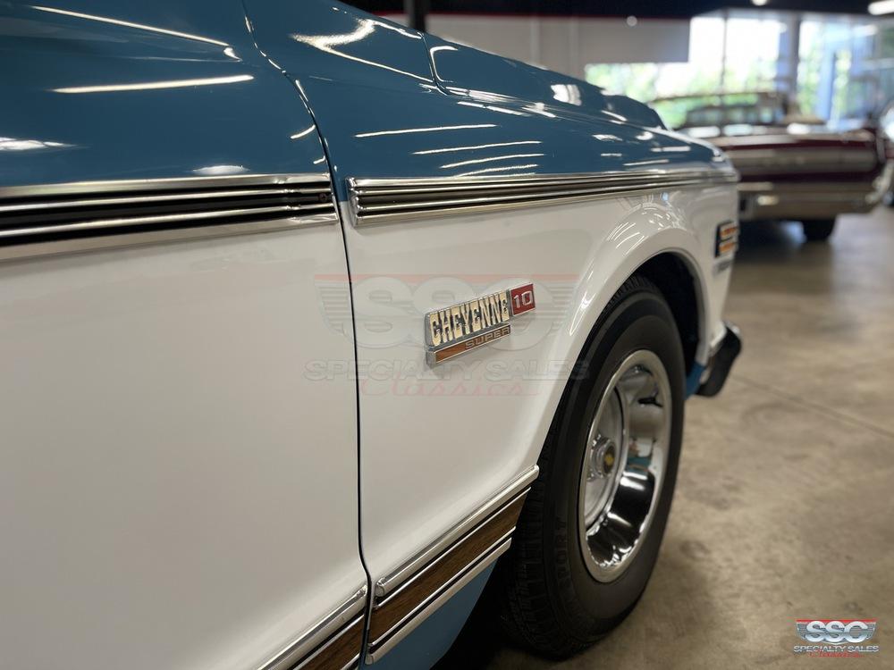 1972 Chevrolet C10 Cheyenne Super 2 Door Fleetside Shortbed for sale